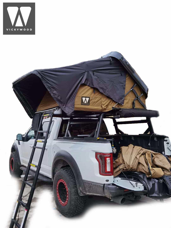 Hybrid-Dachzelt mit Hartschale MIGHTY OAK 160 - 1